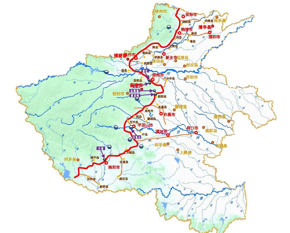 河南省南水北调供水配套工程